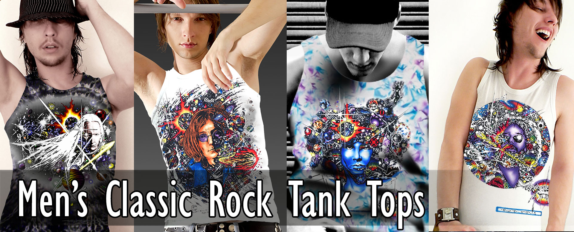 Men's Classic Rock Tank Tops