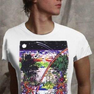Ancient Forest T-shirt - Men's white, 100% cotton crew neck cut, short sleeve tee.