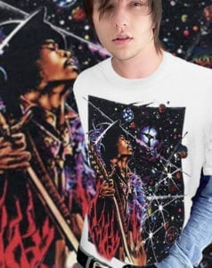 Big Wing Inspired by Jimi Hendrix T-shirt - Men's white, 100% Cotton