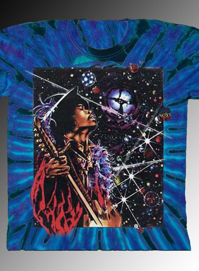 Big Wing Inspired by Jimi Hendrix T-shirt - Men's purple Tie Dye, 100% Cotton