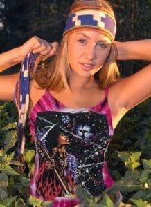 Big Wing Inspired by Jimi Hendrix Tank Top - Women's pink tie dye, 100% cotton sleeveless tank top.