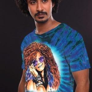 Janis Joplin T-shirt Men's Inspired Bluesy Mama