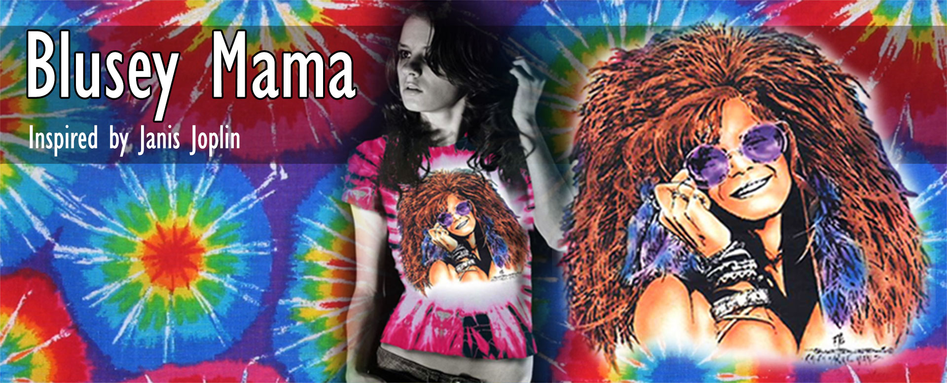 Bluesy Mama and Dune Shirts Inspired by Janis Joplin - T-shirts and Tank Tops