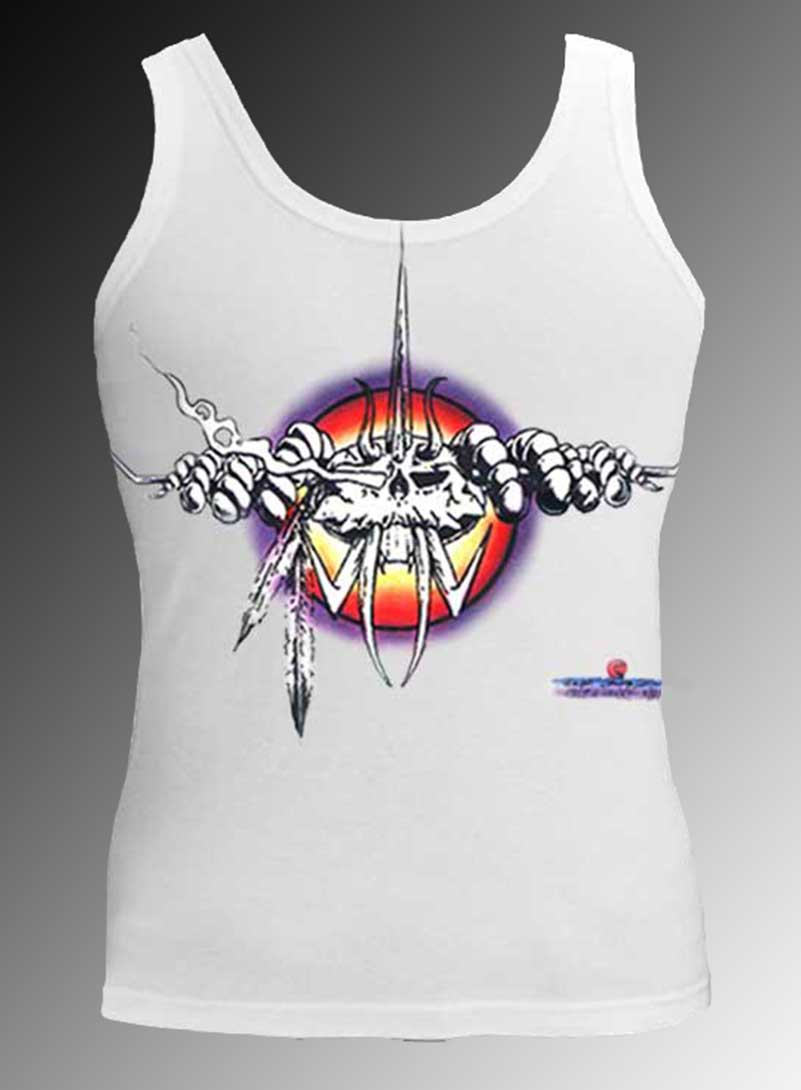The Bug Tank Top - Men's white, 100% cotton sleeveless tank top.