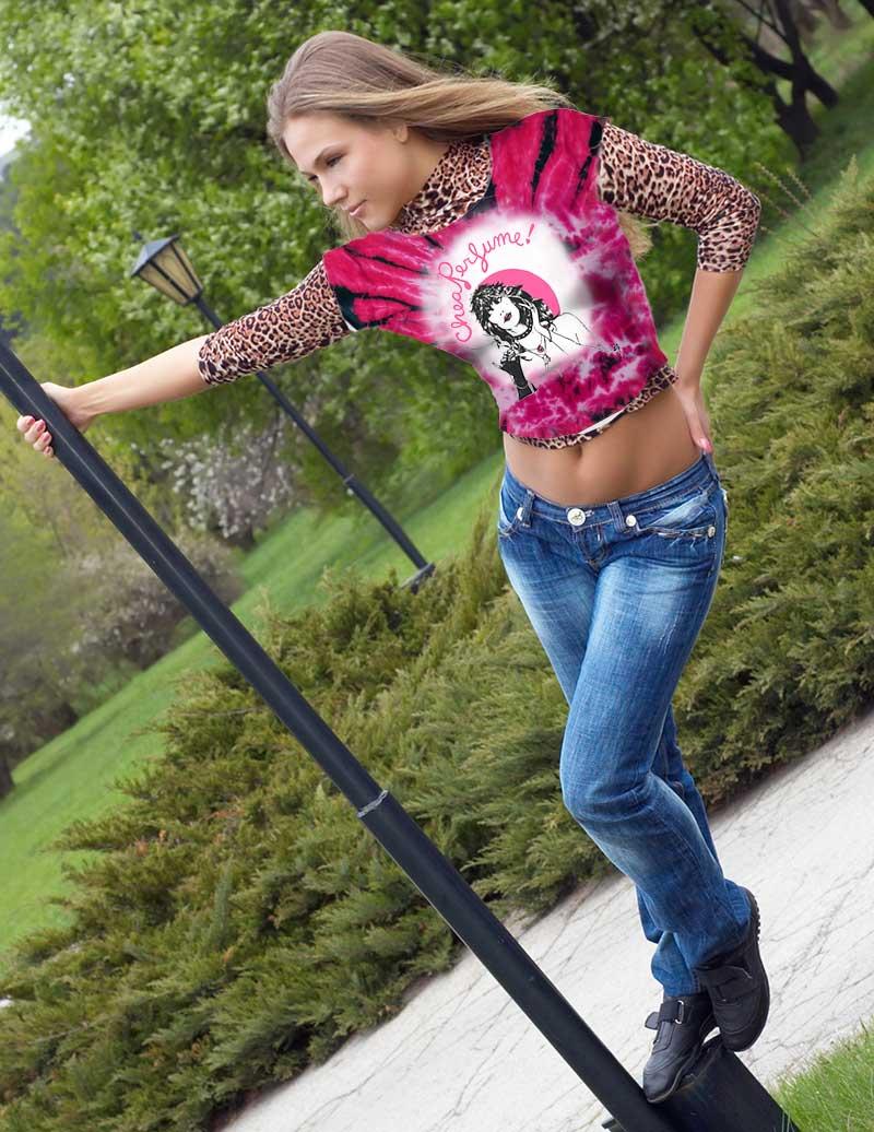 Cheap Perfume T-shirt - Women's pink tie dye, 100% cotton crew neck cut, short sleeve tee.