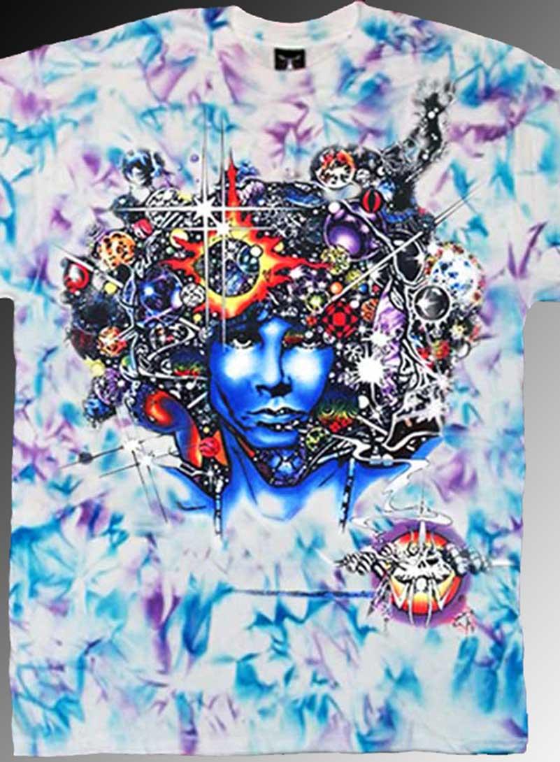 Door Ways T-shirt - Men's blue and purple crystallized, 100% cotton crew neck cut, short sleeve tee.