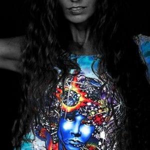 Jim Morrison T-shirt Women's Door Ways - Women's purple tie dye, 100% cotton crew neck cut, short sleeve tee.