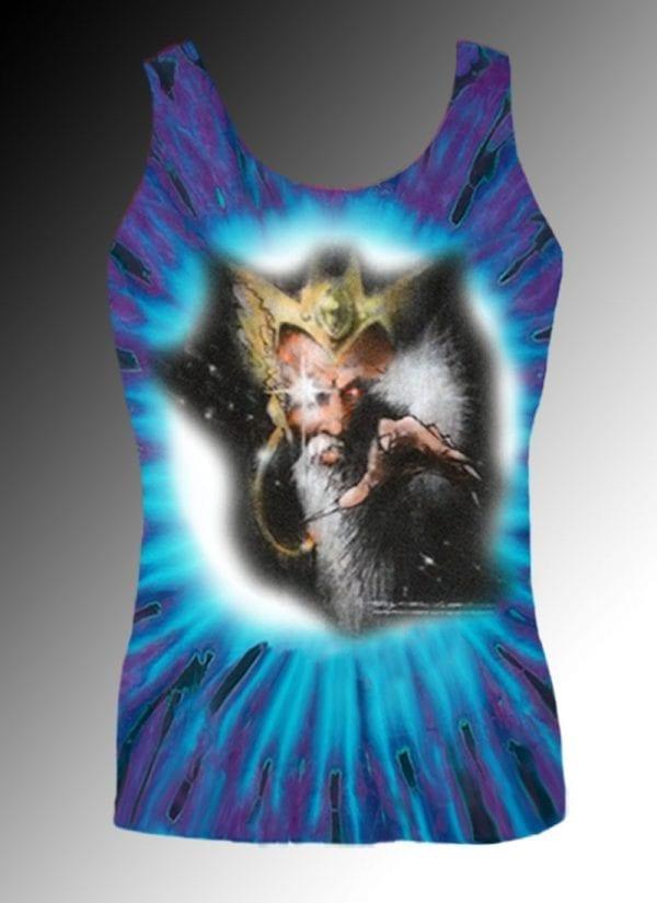 Ghost Wizard Tank Top - Men's purple tie dye, 100% cotton sleeveless tank top.