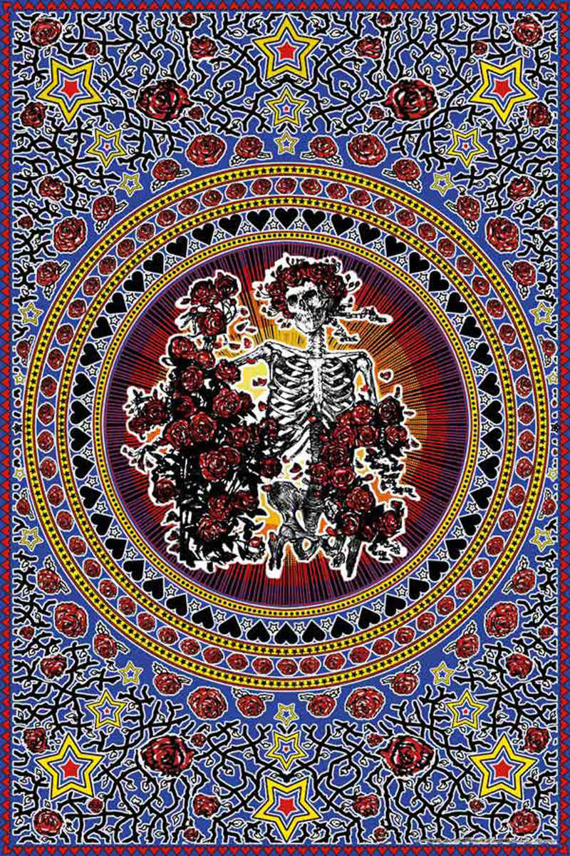 Grateful Dead Skull and Roses Tapestry - Bertha Tapestry