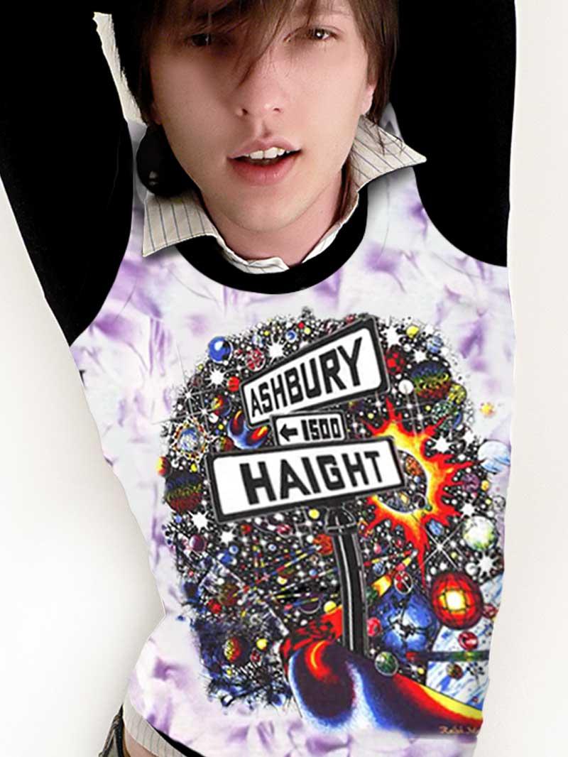 Haight Ashbury Tank Top - Men's purple crystallized, 100% cotton sleeveless tank top.