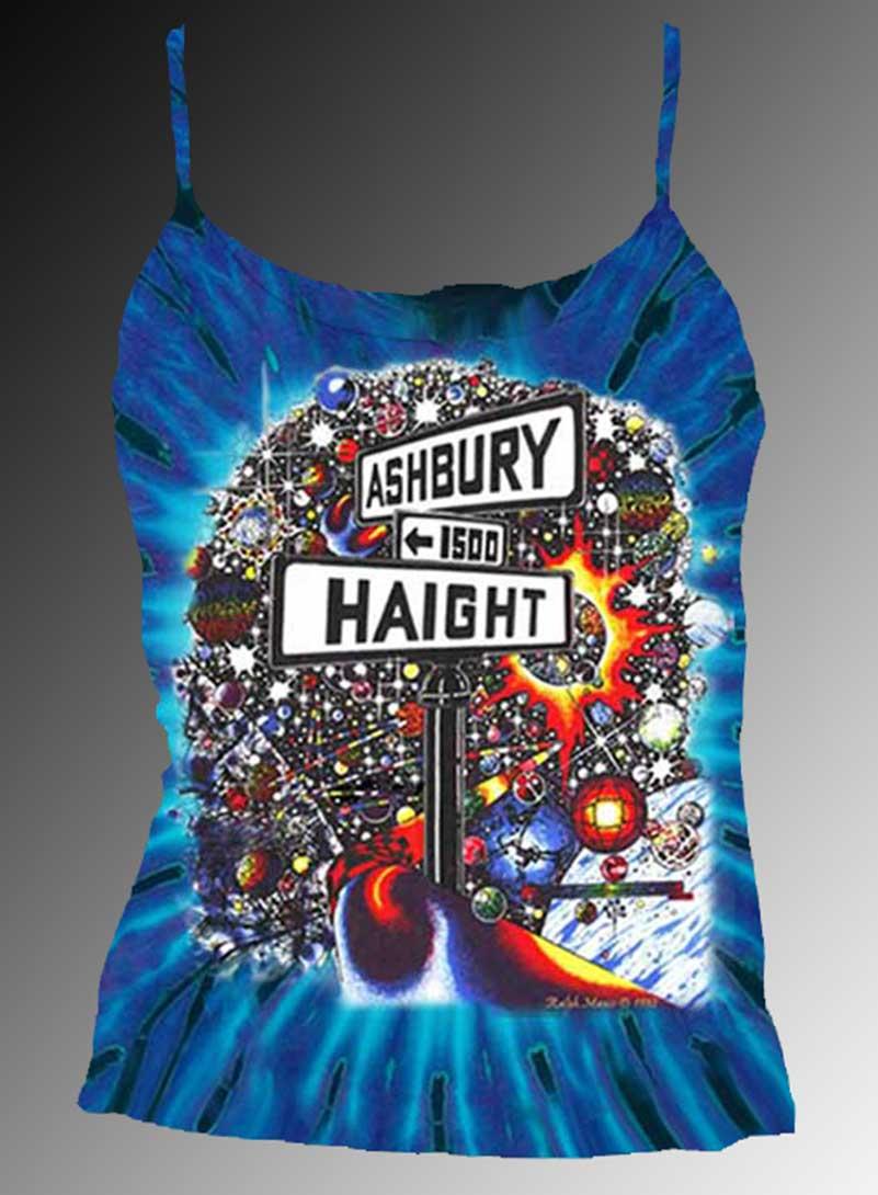 Haight Ashbury Tank Top - Women's purple tie dye, 100% cotton sleeveless tank top.