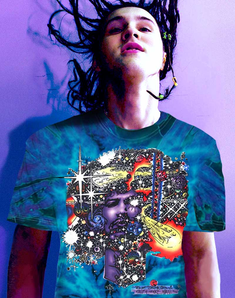 Jimi Hendrix T-shirt Men's Inspired Haze