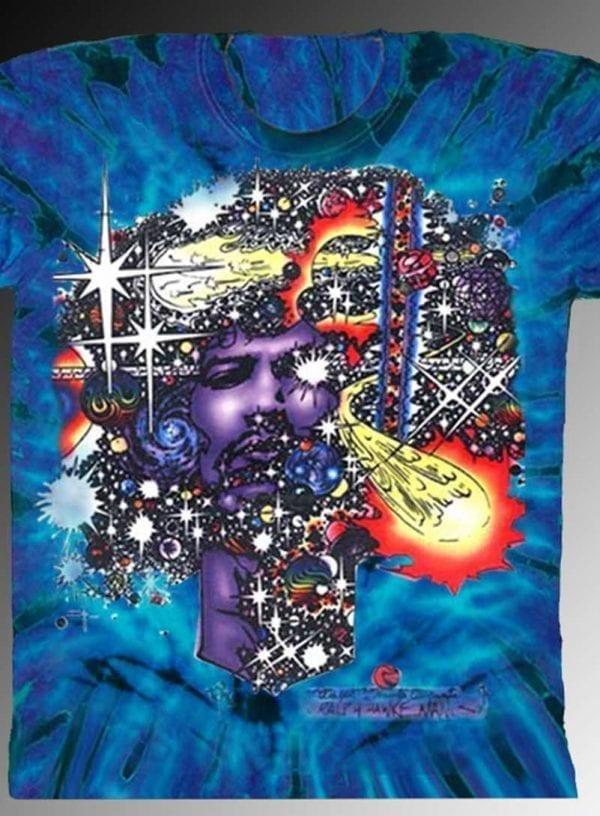 Haze T-shirt - Men's purple tie dye, 100% cotton crew neck cut, short sleeve tee.