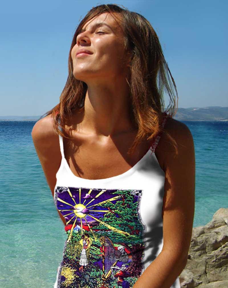 Inspiration Tank Top - Women's white, 100% cotton sleeveless tank top.