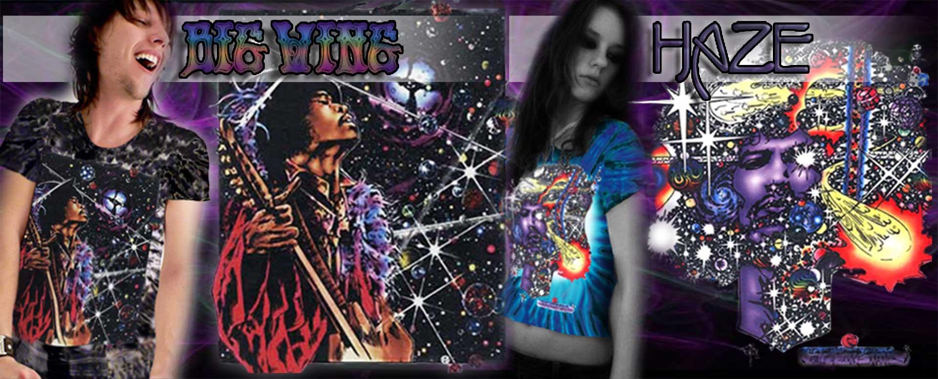 Jimi Hendrix Inspired T-shirts and Tank Tops