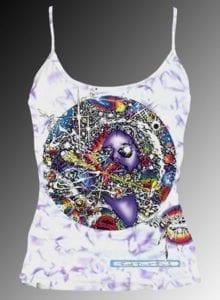 Mr Fantasy Tank Top - Women's purple crystallized, 100% cotton sleeveless tank top.