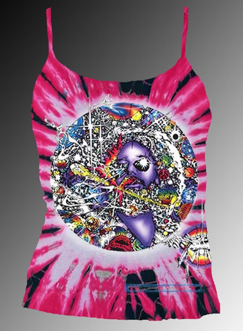 Mr Fantasy Tank Top - Women's pink tie dye, 100% cotton sleeveless tank top.