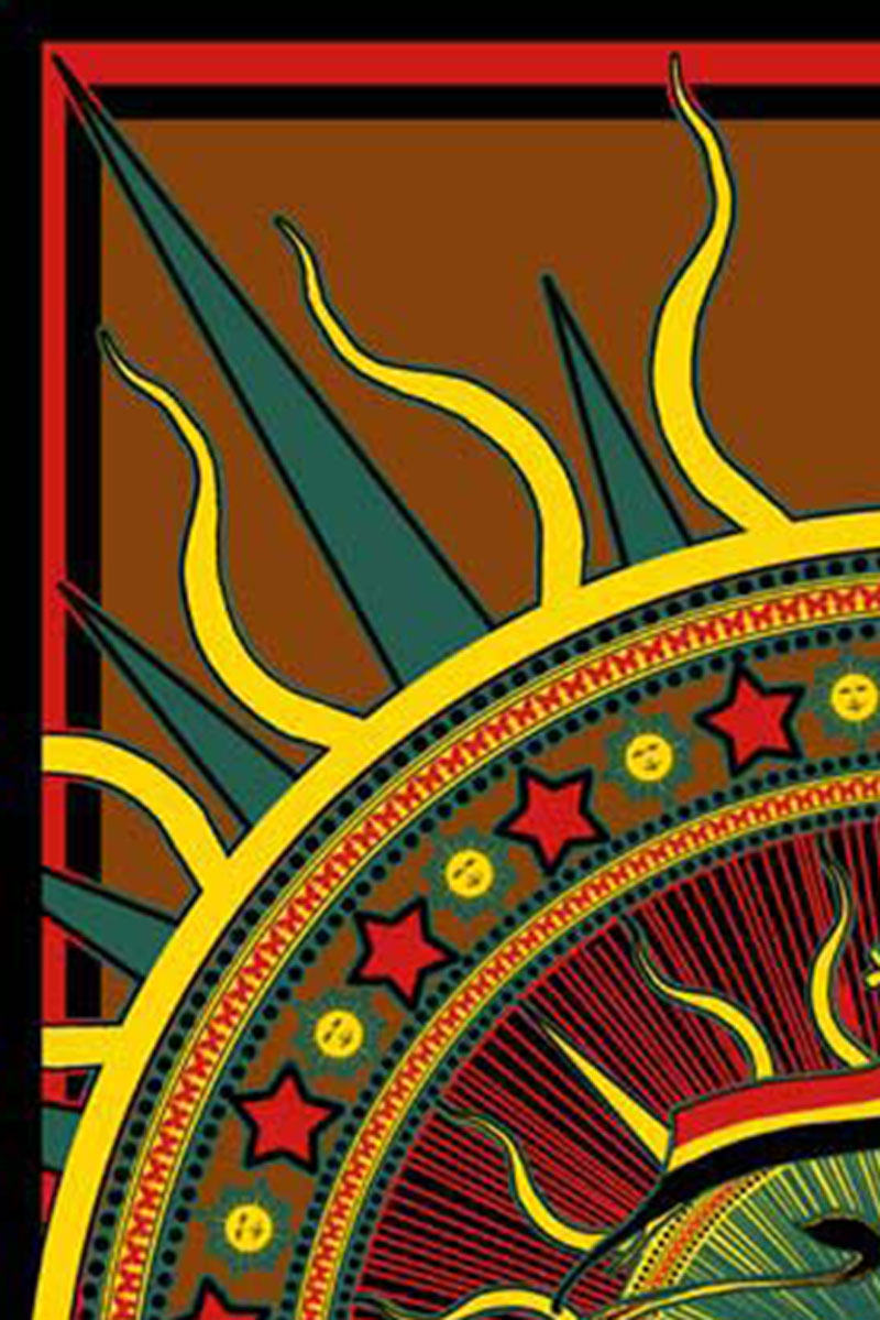 Rasta Lion of Judah with Flag Reggae Music Tapestry closeup