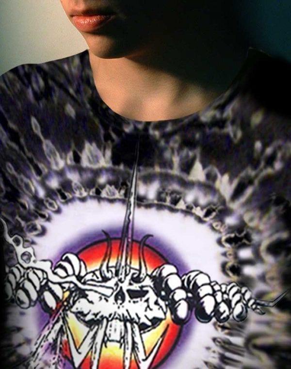 The Bug T-shirt - Men's black tie dye, 100% cotton crew neck cut, short sleeve tee.