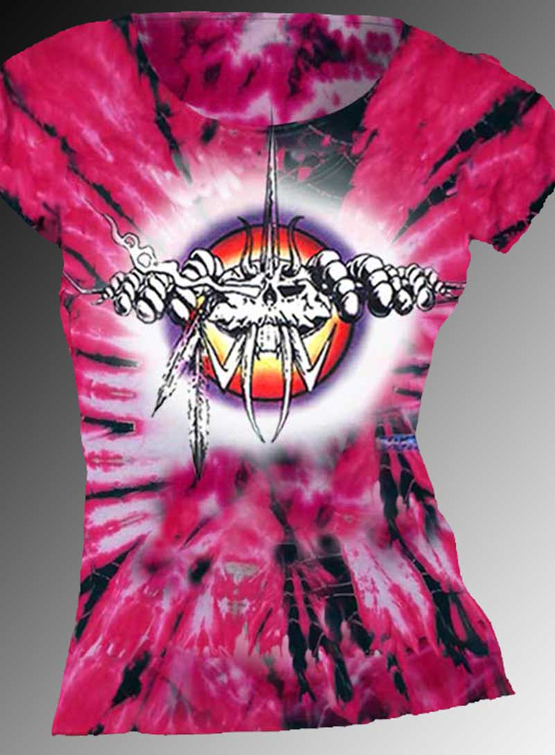 The Bug T-shirt - Women's pink tie dye, 100% cotton crew neck cut, short sleeve tee.