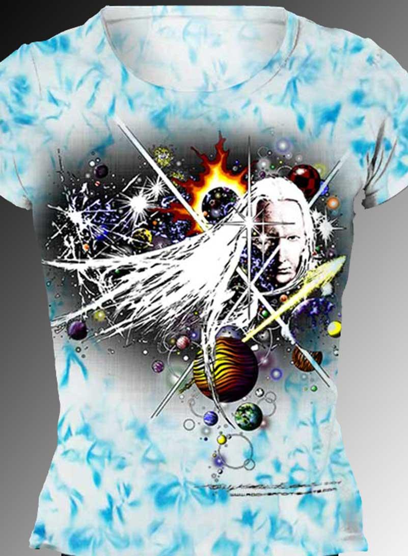 Winters Blues T-shirt - Women's blue crystallized, 100% cotton crew neck cut, short sleeve tee.