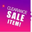 Clearance Sale Item!